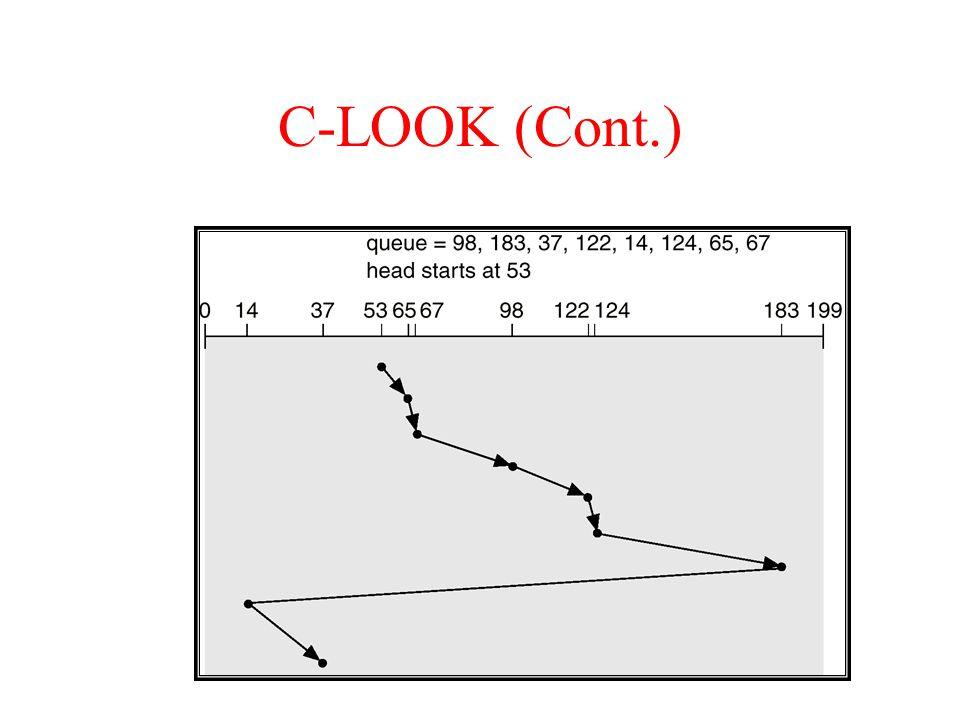 C-LOOK (Cont.)