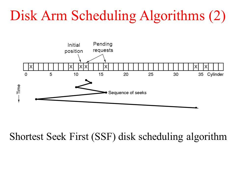 Disk Arm Scheduling Algorithms (2)