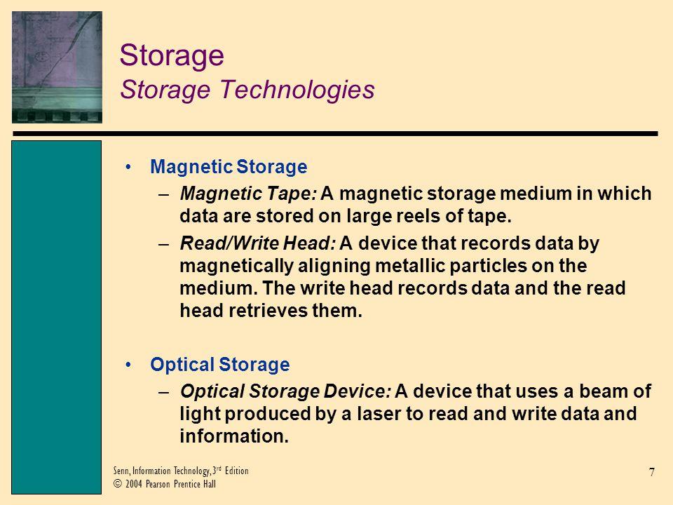 Storage Storage Technologies