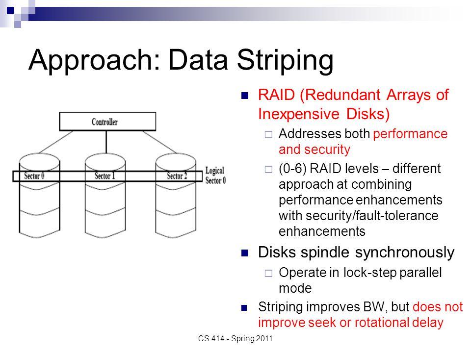 Approach: Data Striping