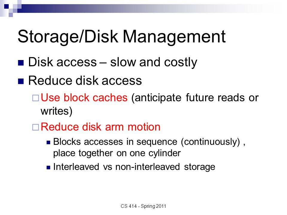 Storage/Disk Management