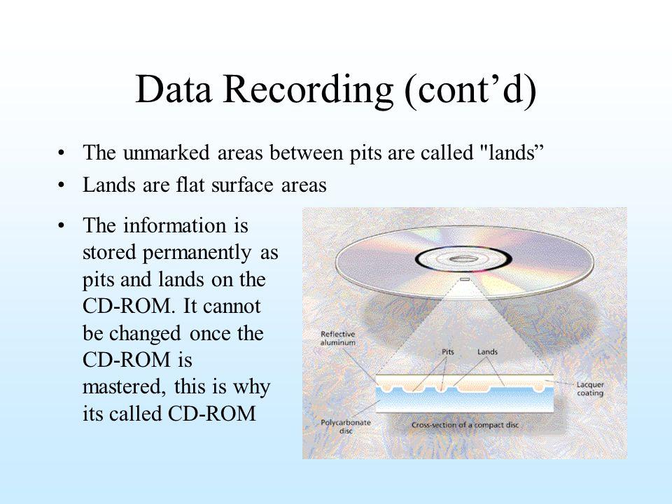 Data Recording (cont'd)