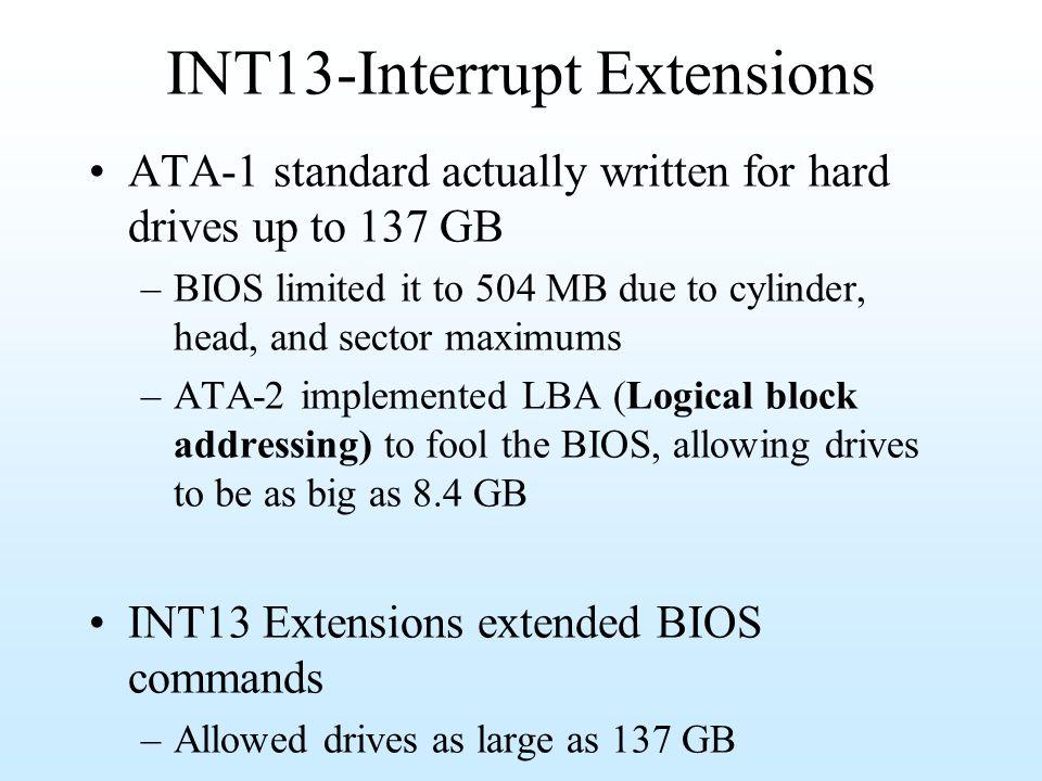 INT13-Interrupt Extensions