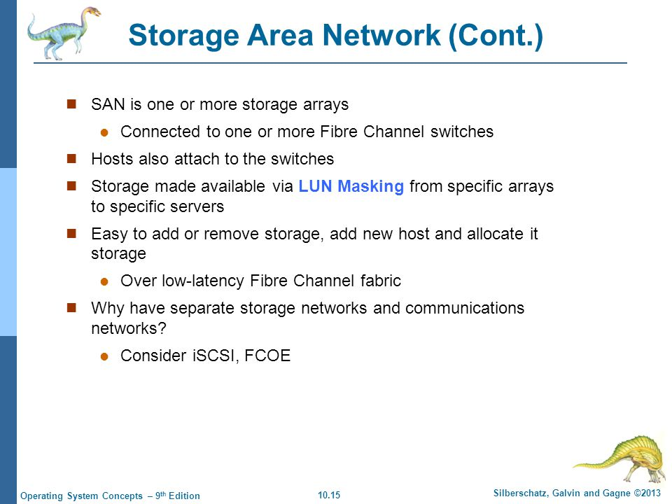 Storage Area Network (Cont.)
