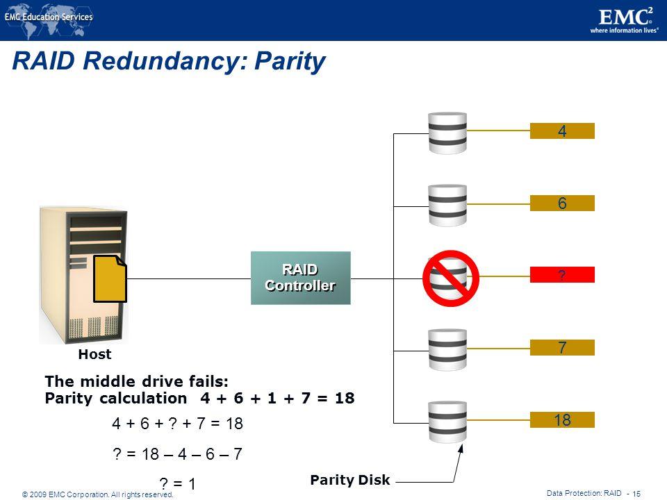RAID Redundancy: Parity