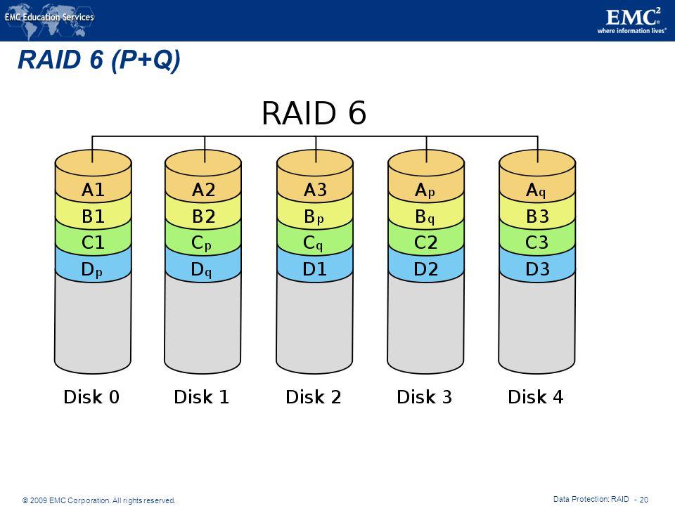 RAID 6 (P+Q) Data Protection: RAID