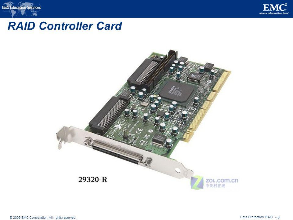 RAID Controller Card Data Protection: RAID