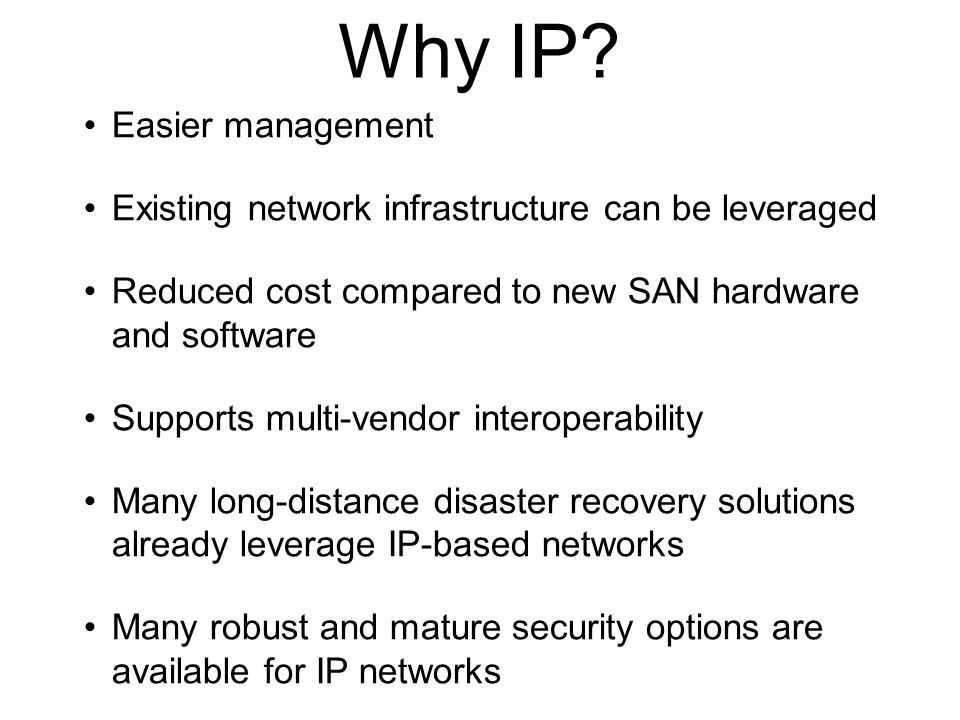 Why IP Easier management