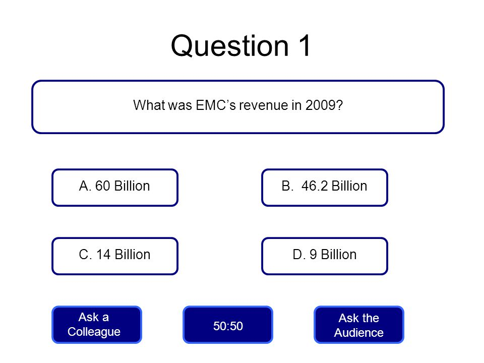 What was EMC's revenue in 2009