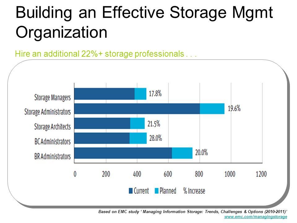 Building an Effective Storage Mgmt Organization