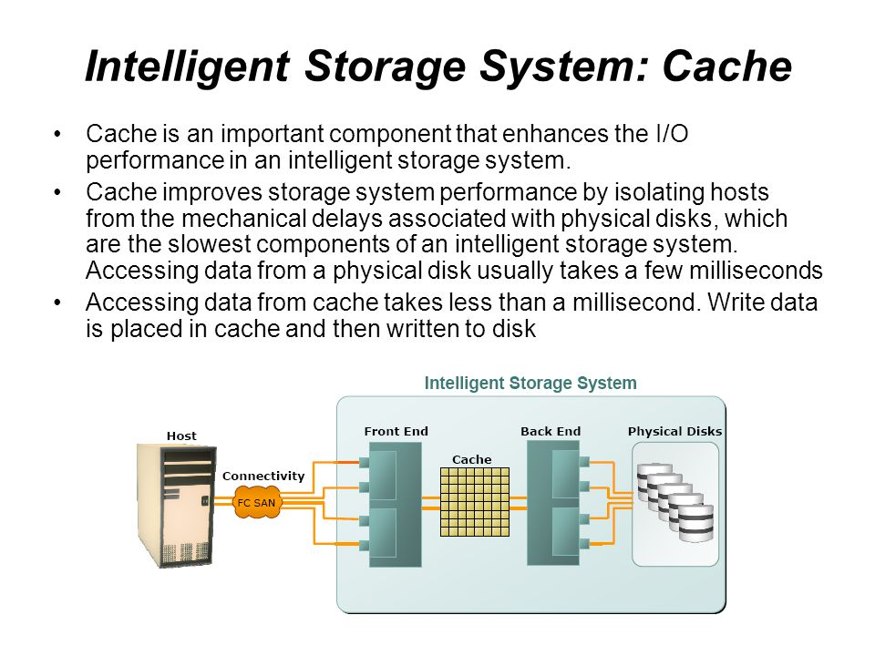 Intelligent Storage System: Cache
