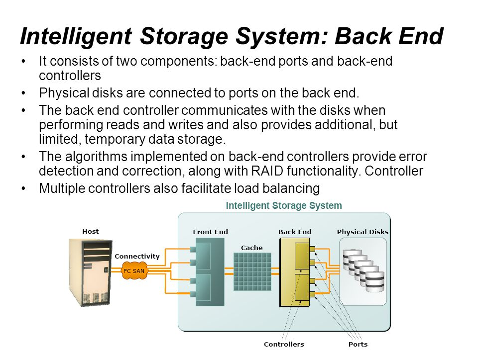 Intelligent Storage System: Back End