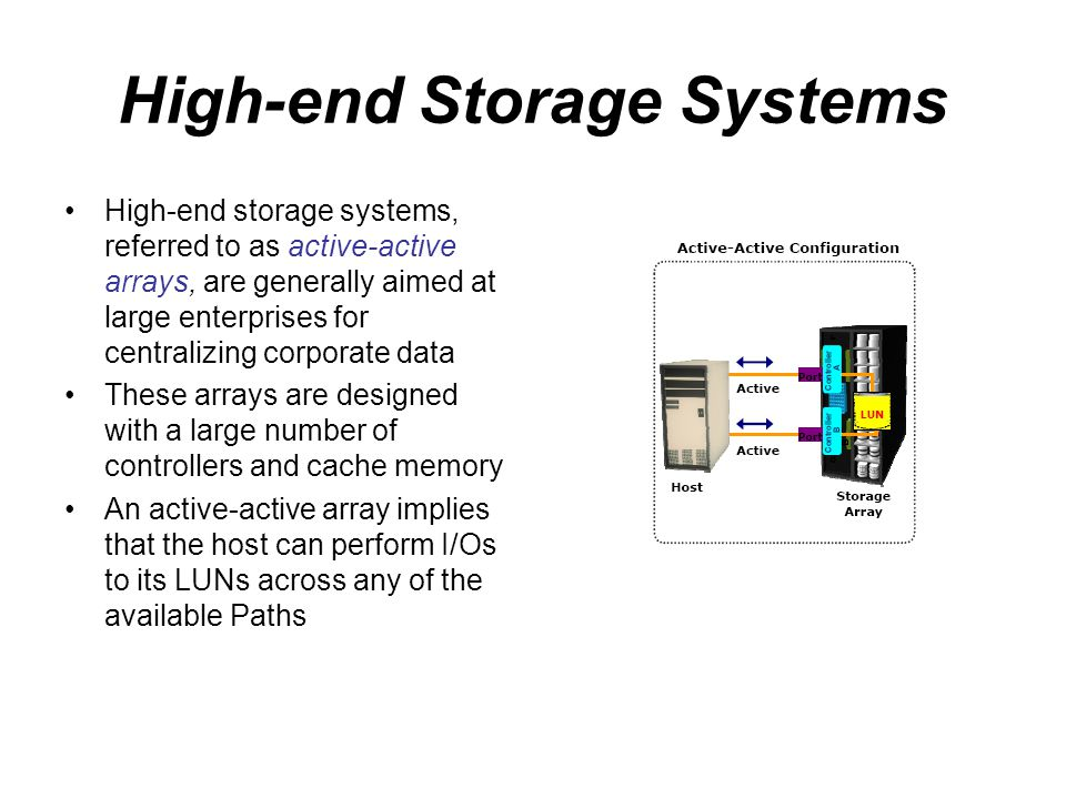 High-end Storage Systems