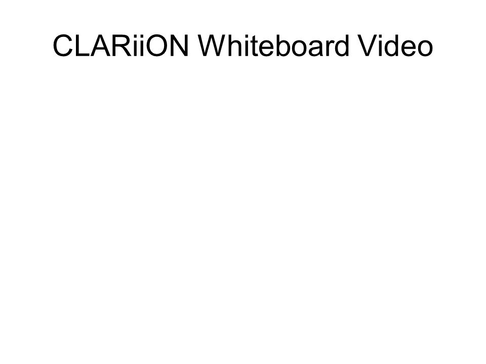 CLARiiON Whiteboard Video
