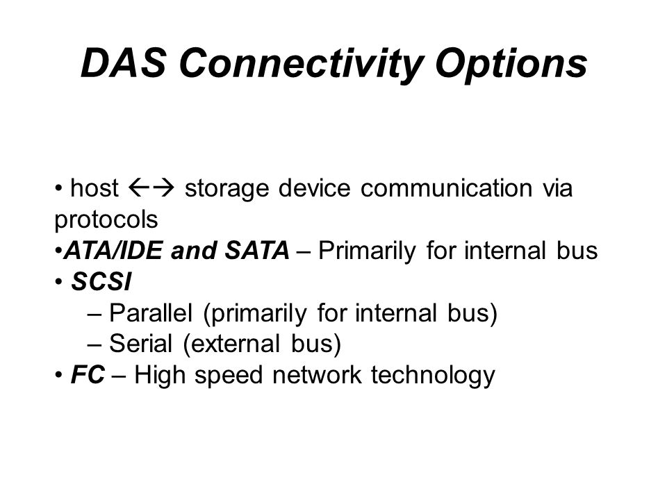 DAS Connectivity Options