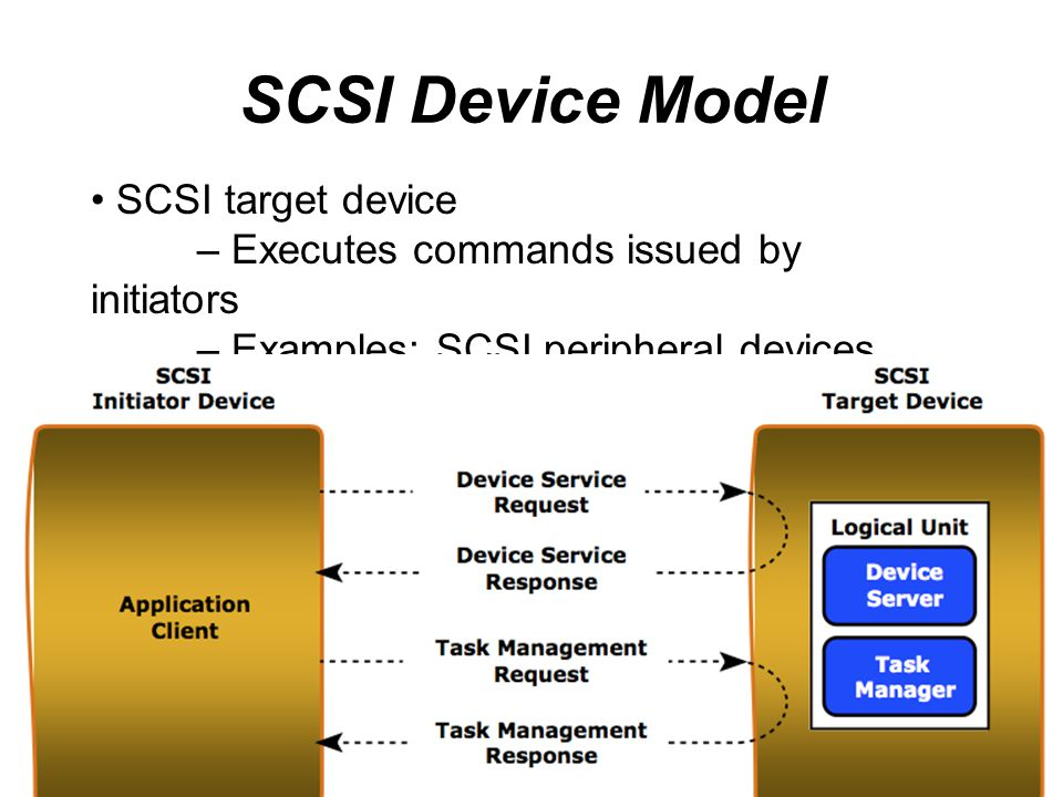 SCSI Device Model SCSI target device