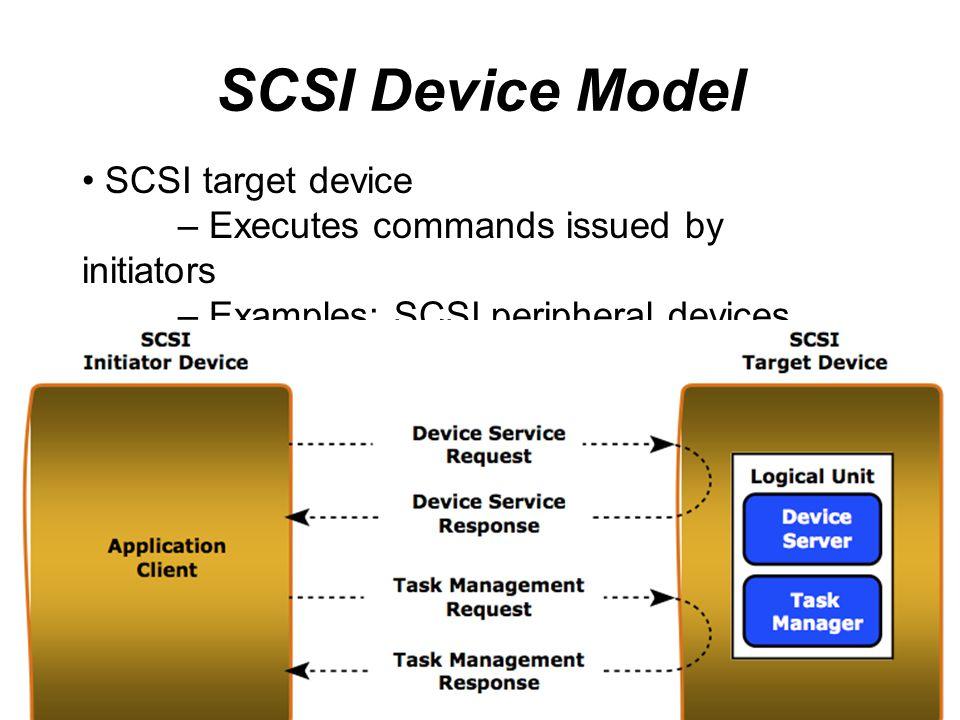 SCSI Device Model SCSI target device