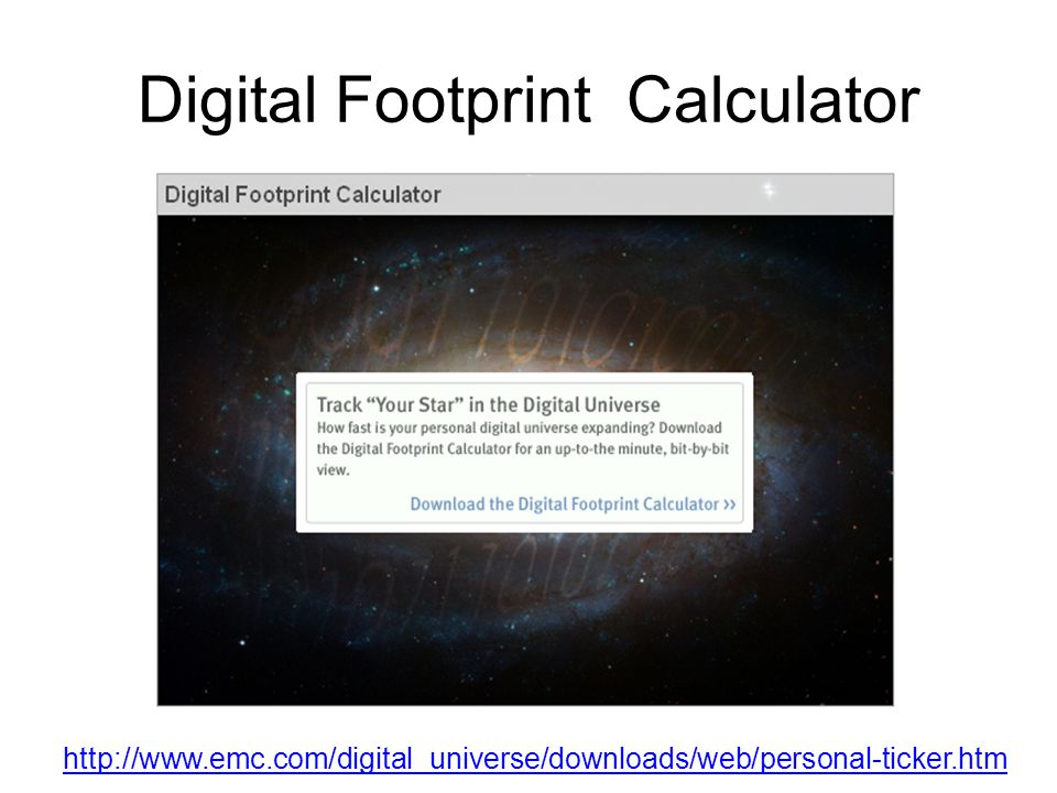 Digital Footprint Calculator