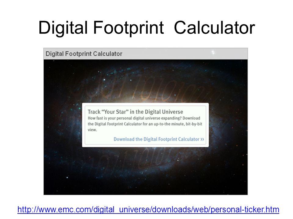 Digital Footprint Calculator
