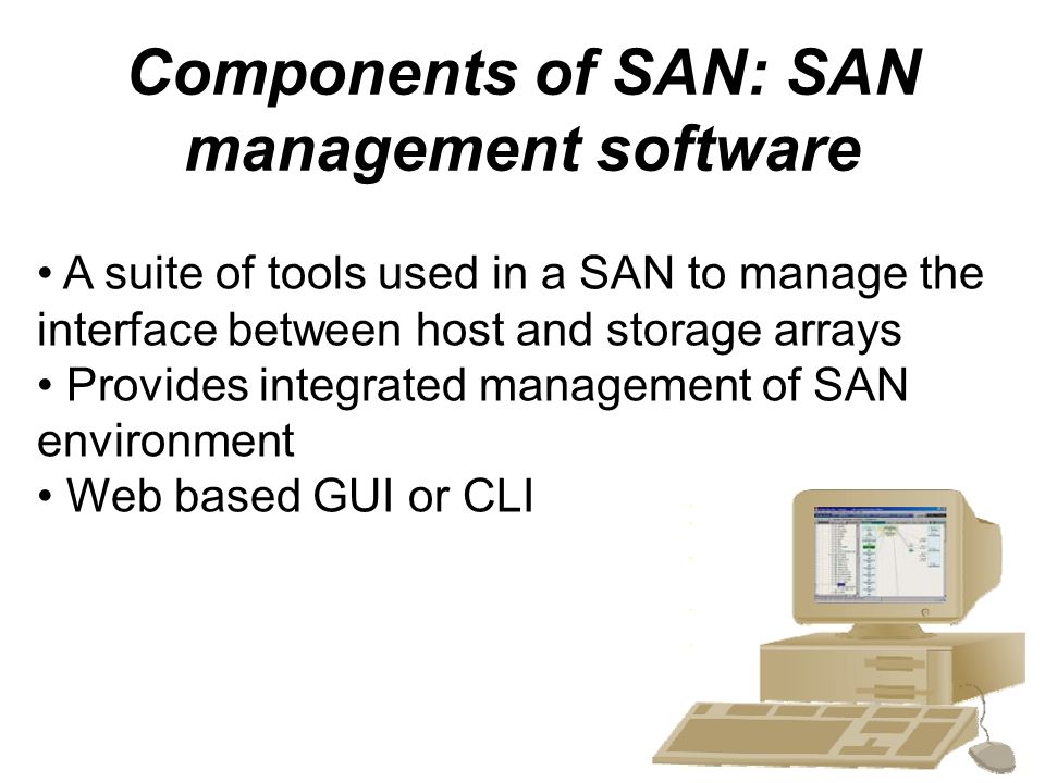 Components of SAN: SAN management software