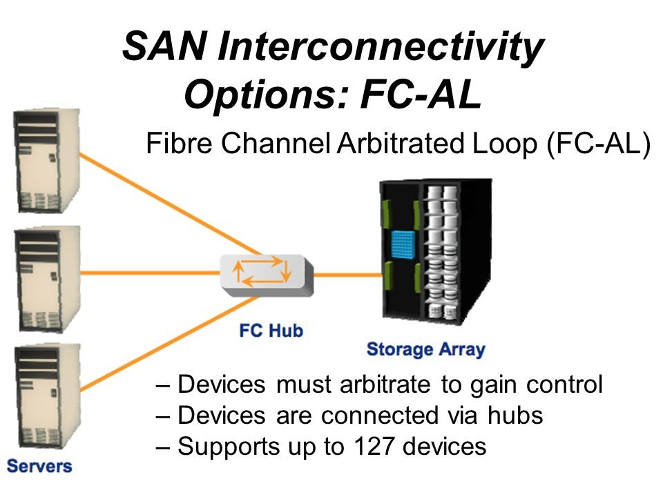 SAN Interconnectivity Options: FC-AL