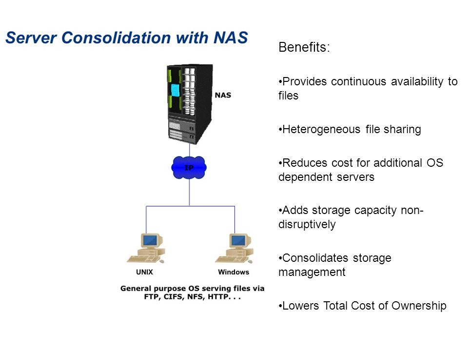 Benefits: Provides continuous availability to files