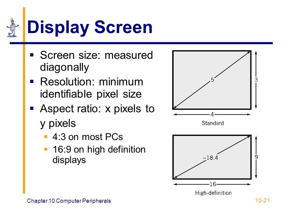 Display Screen Screen size: measured diagonally