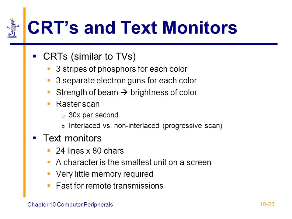 CRT's and Text Monitors