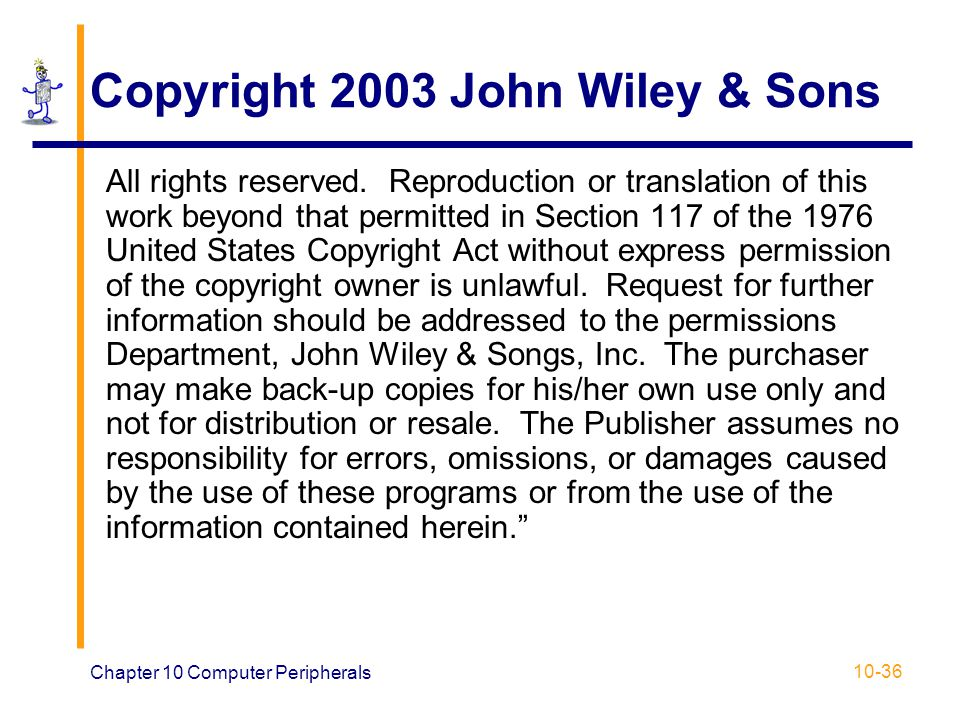 Copyright 2003 John Wiley & Sons