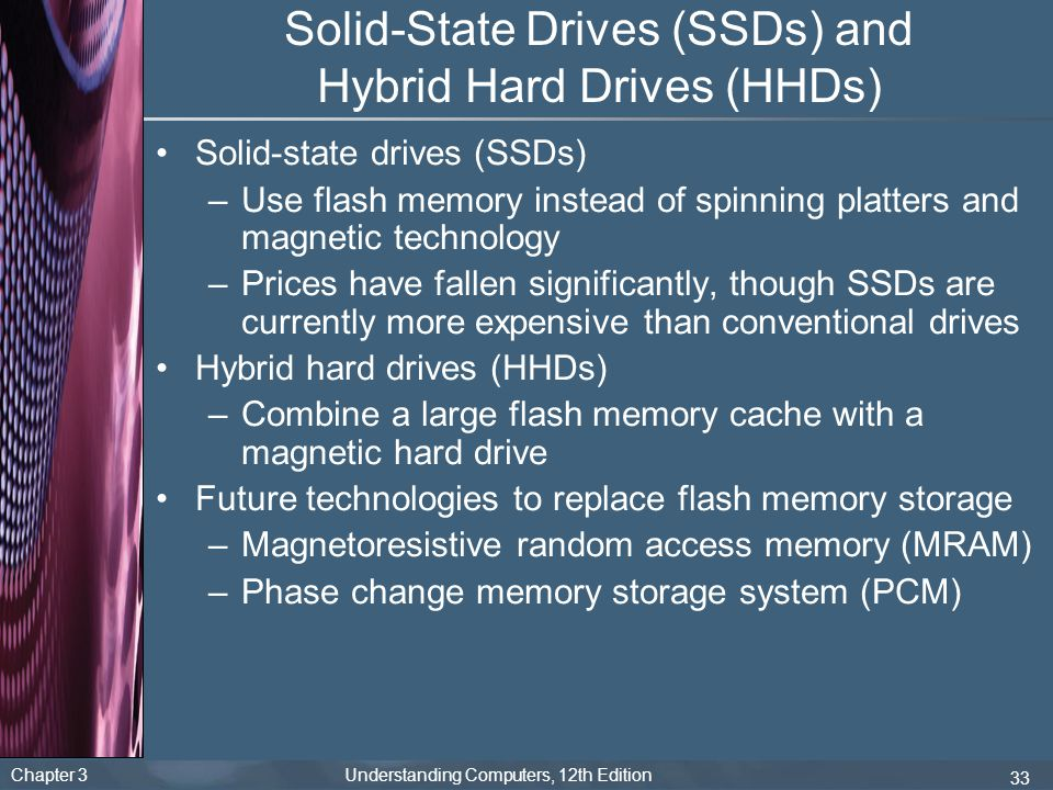 Solid-State Drives (SSDs) and Hybrid Hard Drives (HHDs)