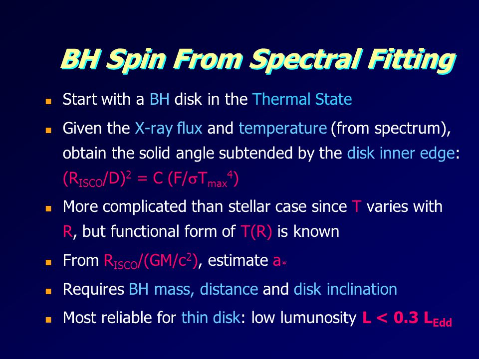 BH Spin From Spectral Fitting