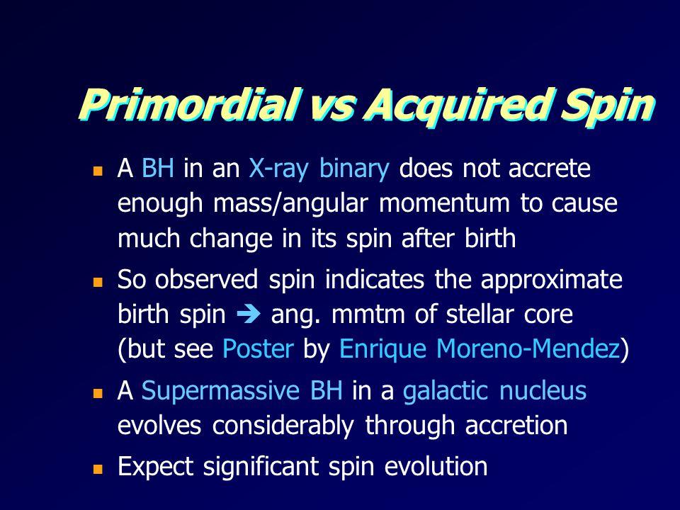 Primordial vs Acquired Spin