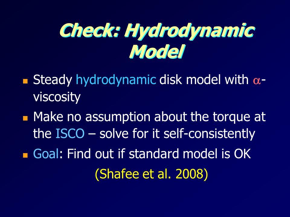 Check: Hydrodynamic Model