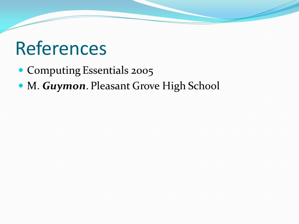 References Computing Essentials 2005