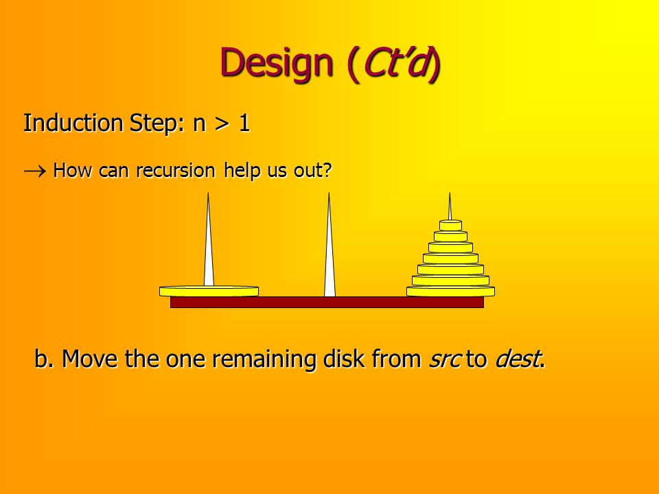 Design (Ct'd) Induction Step: n > 1