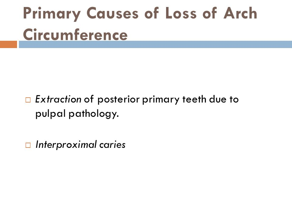 Primary Causes of Loss of Arch Circumference