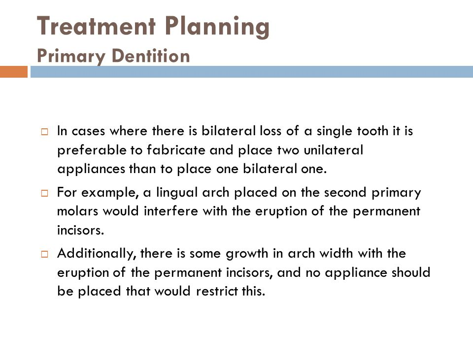 Treatment Planning Primary Dentition