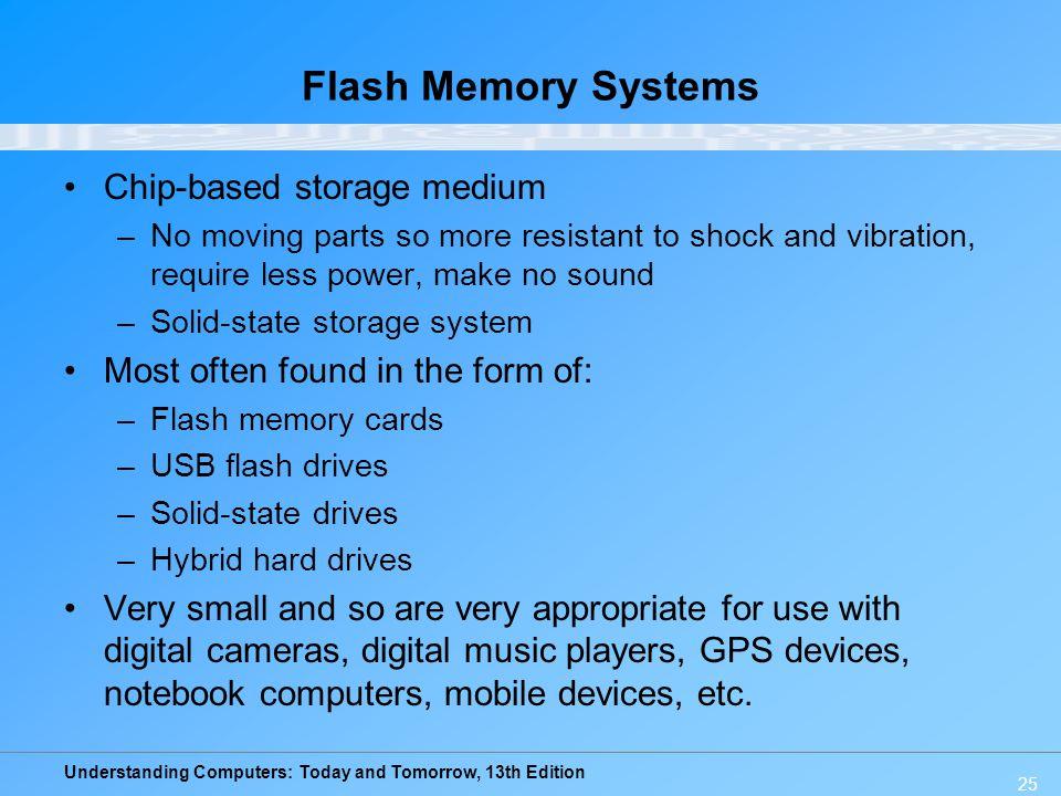 Flash Memory Systems Chip-based storage medium