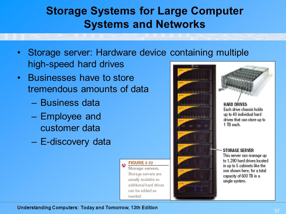 Storage Systems for Large Computer Systems and Networks