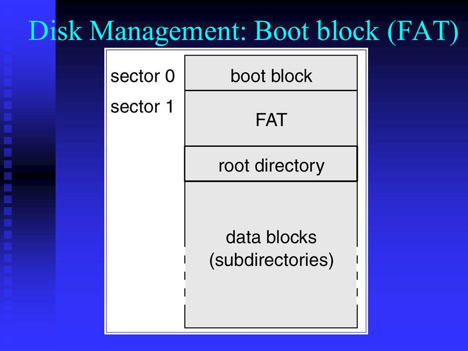 Disk Management: Boot block (FAT)