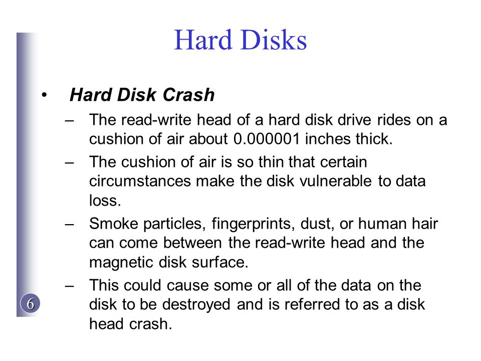 Hard Disks Hard Disk Crash