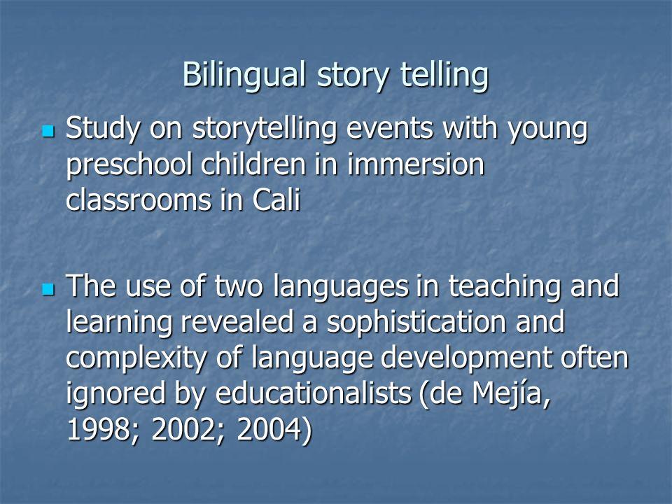 Bilingual story telling