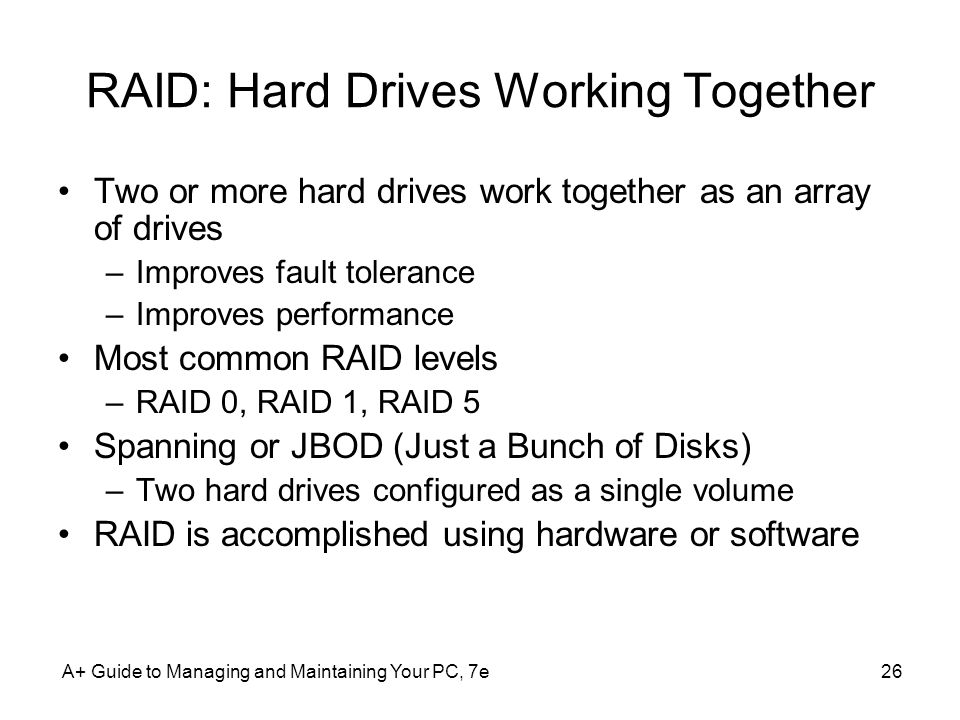 RAID: Hard Drives Working Together