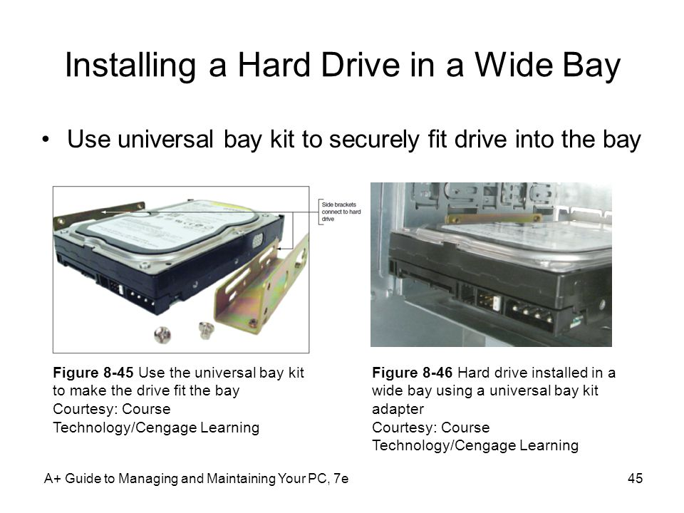 Installing a Hard Drive in a Wide Bay