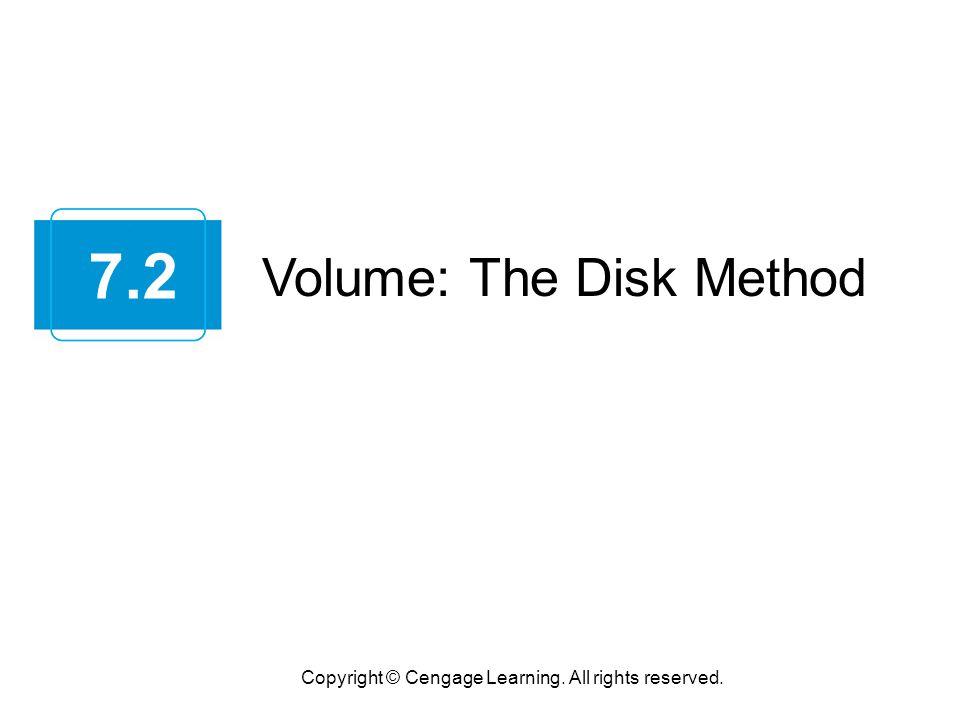7.2 Volume: The Disk Method