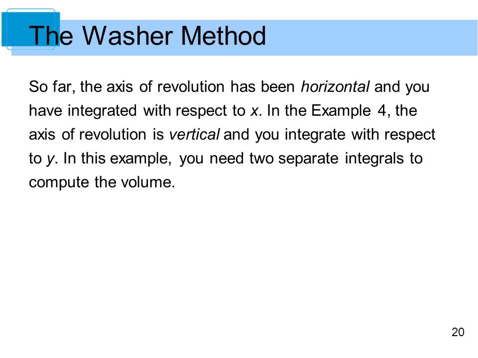 The Washer Method