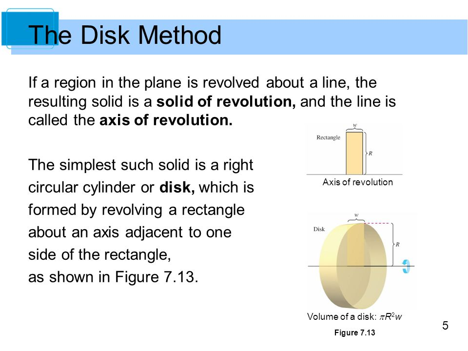 The Disk Method