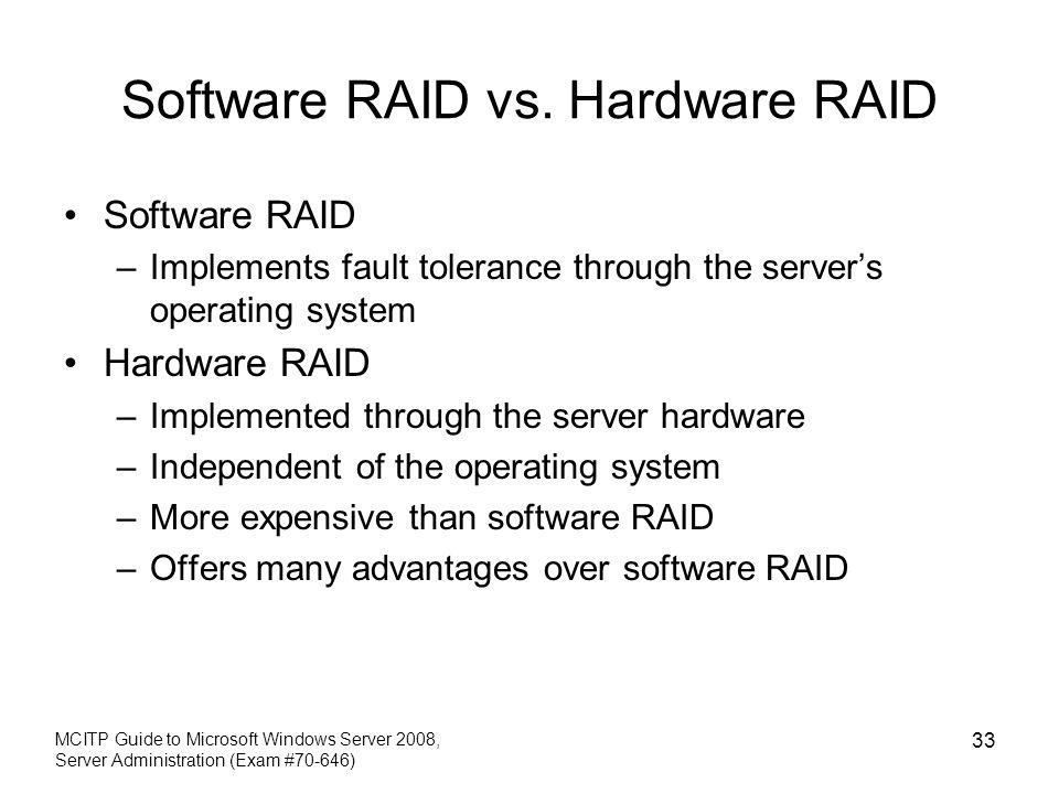Software RAID vs. Hardware RAID