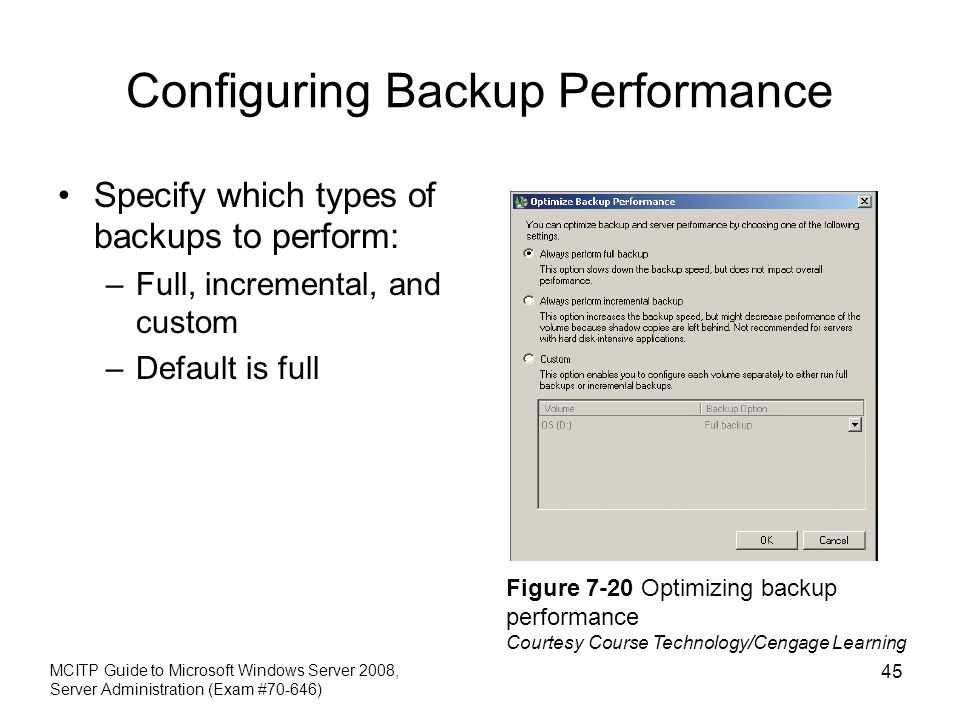 Configuring Backup Performance