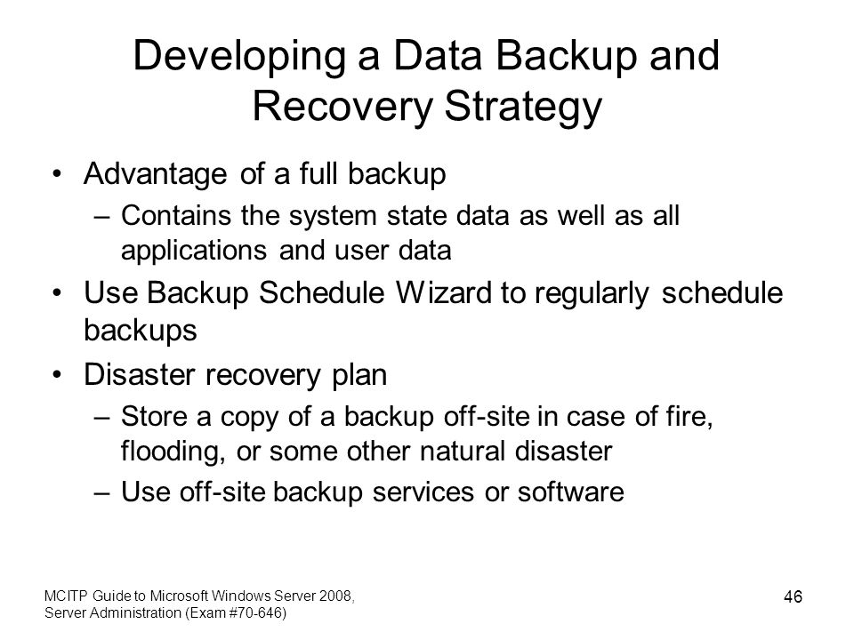 Developing a Data Backup and Recovery Strategy